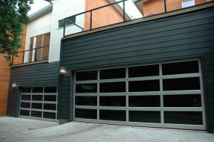 contemporary style glass garage door chandler az